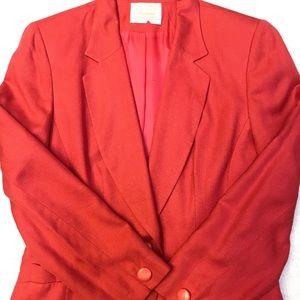 Vtg Pendleton Woolen Mills Coral Jacket Sz 6